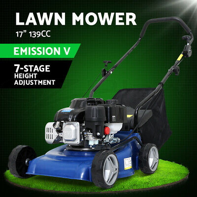 AU309 • Buy Lawn Mower 4 Stroke 17  Petrol Powered Hand Push Engine Lawnmower Catch