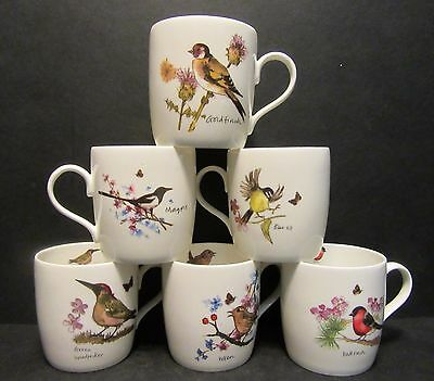 £17.95 • Buy 6 A Set Of Six Data New Birds Ray Shape Fine Bone China Mugs Cups To Clear