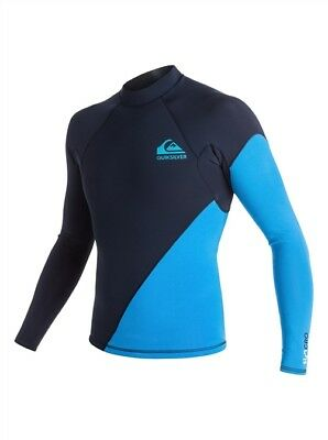 $57 • Buy QUIKSILVER Men's 1mm SYNCRO NEW WAVE L/S WETSUIT TOP BYJ0 Size Small  LAST ONE