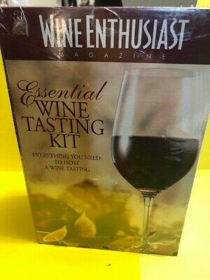 NEW In Box Wine Enthusiast Essential Wine Tasting Kit For Hosting • 13.85$
