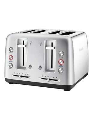 AU119.20 • Buy Breville The Toast Control 4 Slice Toaster Stainless Steel LTA670BSS