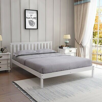 AU159.95 • Buy Wooden Bed Frame Double Size Mattress Base Pine Platform Bedroom Furniture WH