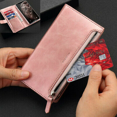 £5.98 • Buy Leather Zipper Purse Wallet Case Flip Cover For IPhone 11 12 13 Pro XS XR 7 8 6s
