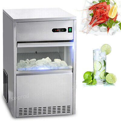 $369.96 • Buy 60 Lbs Ice Maker Countertop Commercial Bar House Auto Stainless Steel Machine