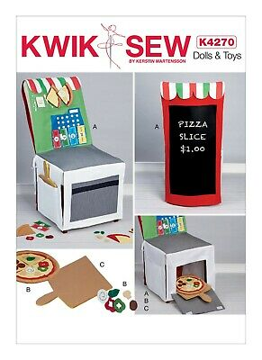 Kwik Sew SEWING PATTERN K4270 Toy Pizza Shop Chair Cover & Accessories • 10.50£