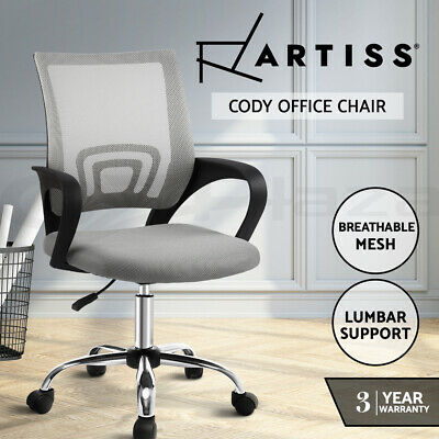 AU74.95 • Buy Artiss Office Chair Gaming Chair Computer Mesh Chairs Executive Mid Back Grey