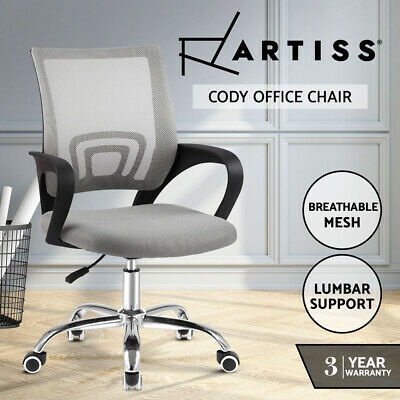 AU56.95 • Buy Artiss Office Chair Gaming Chair Computer Mesh Chairs Executive Mid Back Grey