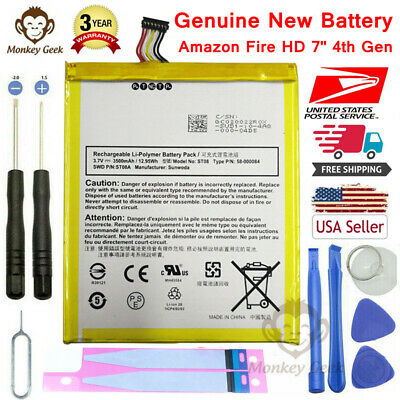 $9.99 • Buy New 58-000084 Battery For Amazon Kindle Fire HD 7 SQ46CW (4th Generation) Series