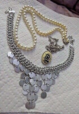 VTG Sarah Coventry Necklace Lot 3 LEGEND FIRST LADY & PYRAMID TREASURE CHOKER • 12.50$