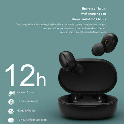 $13.96 • Buy TWS Wireless Bluetooth Earphones W/ Charge Box Earbuds For Xiaomi RedMi Airdots