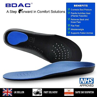 Insoles Orthotic Shoe Inserts For Arch Support For Plantar Fasciitis & Flat Feet • 4.79£
