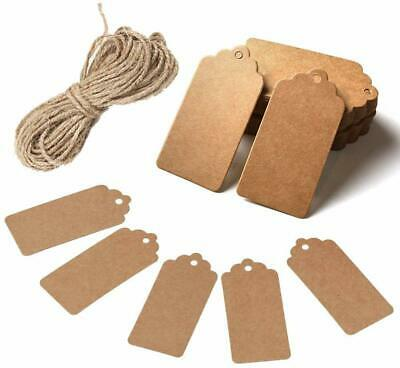 ECO Gift Tags Kraft Paper Card Label Parcel Tags DIY Tags Xmas Hanging Ornament • 2.48£