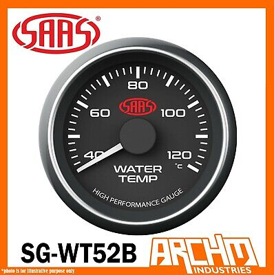 AU58.75 • Buy SAAS 40-120 Degrees Water Temperature Temp Gauge Black Dial Face 52mm SG-WT52B