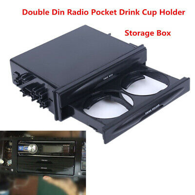$ CDN14.29 • Buy Car Double Din Dash Radio Pocket Drink Bottle Cup Holder Storage Box Accessories
