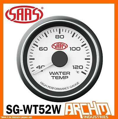 AU59.15 • Buy SAAS Temp Gauge 40-120 Degrees Water Temperature White Dial Face 52mm SG-WT52W