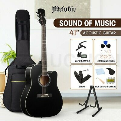 AU99.95 • Buy Melodic 41  Acoustic Guitar Classical Wooden Folk Full Size Guitar W/Bag Tuner