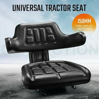 AU95.95 • Buy PU Leather Tractor Seat Excavator Forklift Truck Digger Universal Armrest Chair
