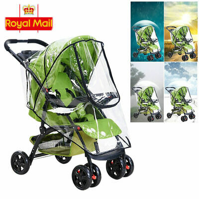 Plus Size Rain Cover Raincover For Universal Hauck Shopper Sport Buggy Pushchair • 6.99£