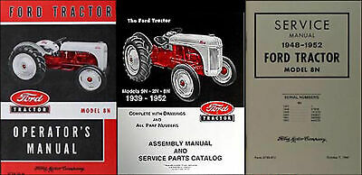 $ CDN45.43 • Buy Ford 8N Tractor SET Owners Repair Assembly Parts Books 1948-1949 1950 51 1952