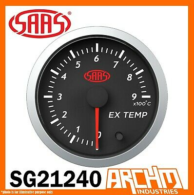 AU71.85 • Buy SAAS Streetline Series Pyro EGT 52mm 0-900° Analog Gauge Black Diesel SG21240