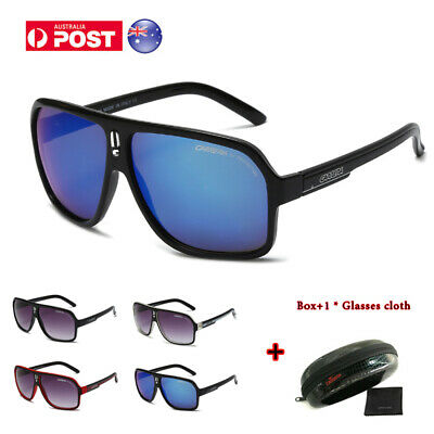 AU16.99 • Buy Sunglasses Fashion Men's Ladies Carrera Glasses Retro Unisex UV400 Lens Black