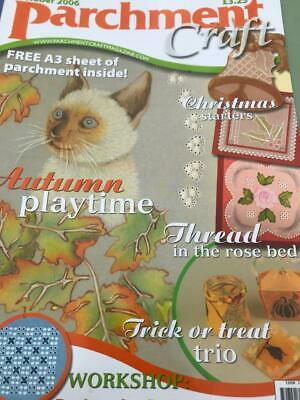 Parchment Craft Magazine October 2006 Cat Card, Christmas Ideas, Squirrel Card • 2.50£