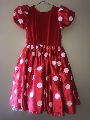 Minie Mouse Girl Birthday Party Or Halloween Costume From Disney Store Size 7/8 • 7.50$