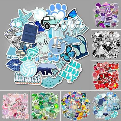 $2.75 • Buy 50 PCs Cute Cartoon Stickers For Water Bottles And Hydro Flask For Teen Girls