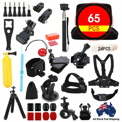 AU23.68 • Buy 65pcs Accessories Pack Case Chest Head Floating Monopod GoPro Hero 8 7 6 5 4 3