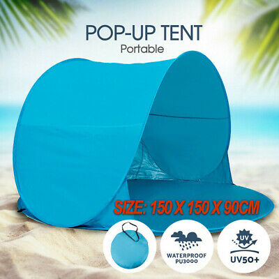 AU22.65 • Buy Pop Up Camping Beach Tent Portable Hiking Sun Shade Shelter Fishing AU STOCK