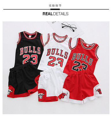 #23 Kids Baby Boys#23 Basketball Jerseys Short Suits Kits  Girls 1-10 Years Sets • 6.99£