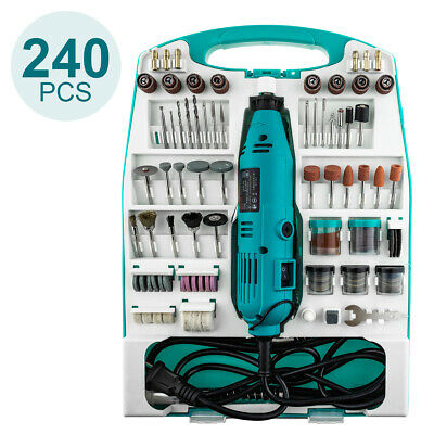 240 Set Rotary Multi Tool Electric Dremel Compatible Accessories Mini Bits Hobby • 27.99£