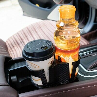 For Car Interior Parts Carbon Fiber Center Console Drink Cup Holder Box US Stock • 12.34$