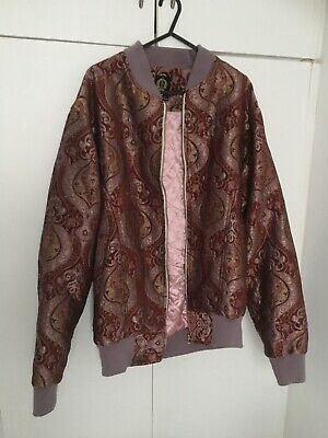 Rich Paisley Embroidered Bomber Jacket With Silk Interior • 25£