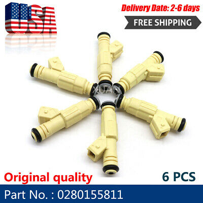 $37.99 • Buy 6PCS OEM 0280155811 Fuel Injectors For Buick Pontiac Chevy Oldsmobile 3.8L Bosc