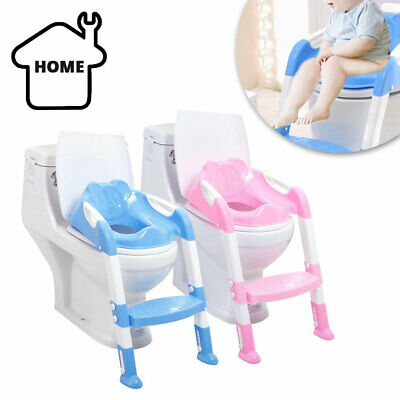 Foldable Baby Potty Infant Kids Toilet Chair Portable Training Seat With Ladder • 10.49£