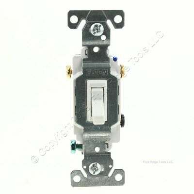 Eaton Wiring White Quiet Toggle Wall Light Switch 3-WAY 15A 120V Bulk 1303-7W • 4.92$