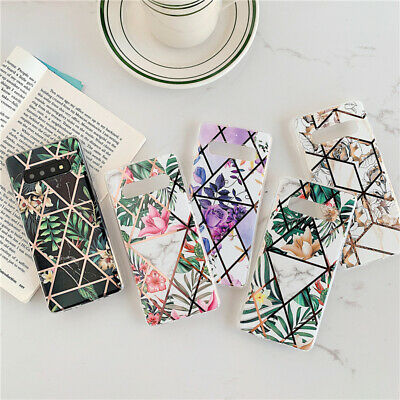 $ CDN4.57 • Buy Plating Flower Geometric Cases For Samsung S10 S9 S8 Plus Note 9 10 Pro A50 A70