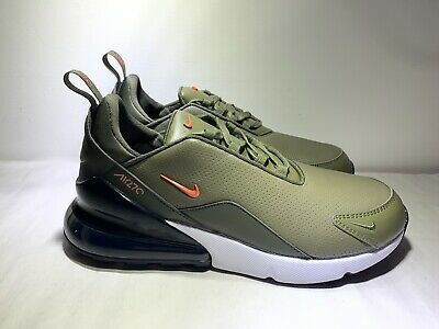 $104.97 • Buy Nike Air Max 270 PRM Leather Olive Green White Mens Shoes BQ6171-200 Size 10