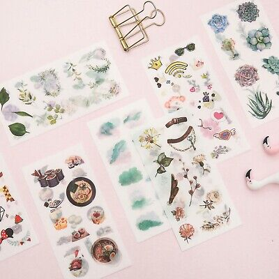 AU2.29 • Buy SALE 6PCS Paper Sticker Book Stationery Bullet Journal Japanese Style GIFT Diary