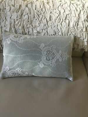 Hand Made Cushion Covers White Lace With Inner Cushion - 19  X 12  • 10£