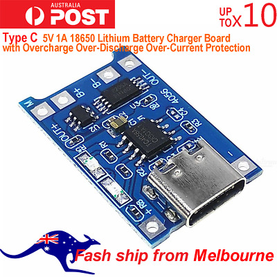AU7.99 • Buy TP4056 Type C USB 5V 1A 18650 Lithium Battery Charger Board AU Stock