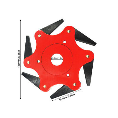 AU15.39 • Buy Outdoor 6 Steel Trimmer Head Blades Razors 65Mn Lawn Mower Grass Weed Cutter Red