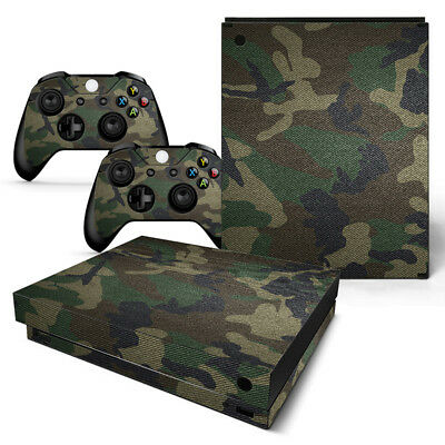$13.97 • Buy Xbox One X Console & 2 Controllers Green Camo Vinyl Skin Decal