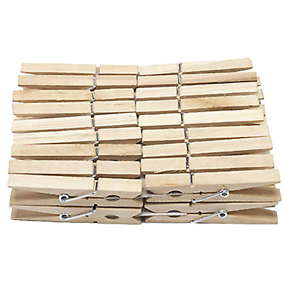 £1.99 • Buy 36pc Wooden Pegs Traditional PINEWOOD Clothes Washing Dry Line Clips Pins Garden