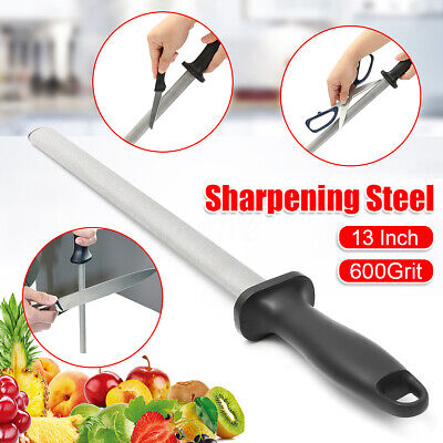 $12.49 • Buy 13'' 600# Grit Diamond Knife Sharpening Steel Rod Sharpener Stone Kitchen Tool