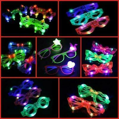 LED Flashing Glasses Neon Party Eye Wear Dance Club Light Up Glow LOT • 2.29£