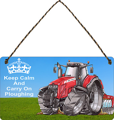 £3.99 • Buy Massey Ferguson Sign Funny Farm Tractor Plaque Keep Calm Carry On Sign Gifts