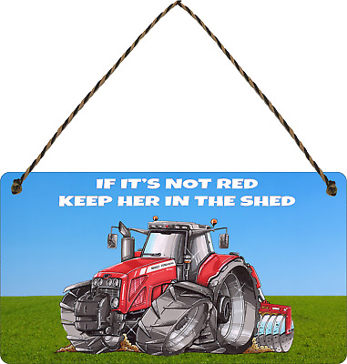 £3.99 • Buy Massey Ferguson Sign Funny Tractor Plaque If Its Not Red Shed Sign Gifts Famer