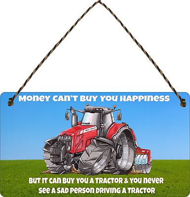 £3.99 • Buy Farmer Massey Ferguson Sign Funny Tractor Plaque Farm Money Cant  Shed Gifts